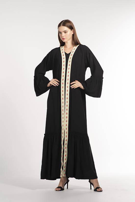 Open Abaya / Cape Black - Chenille Boutique