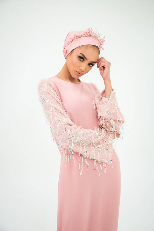 Cotton Candy Star Maxi Dress - Ozlem Kanbul