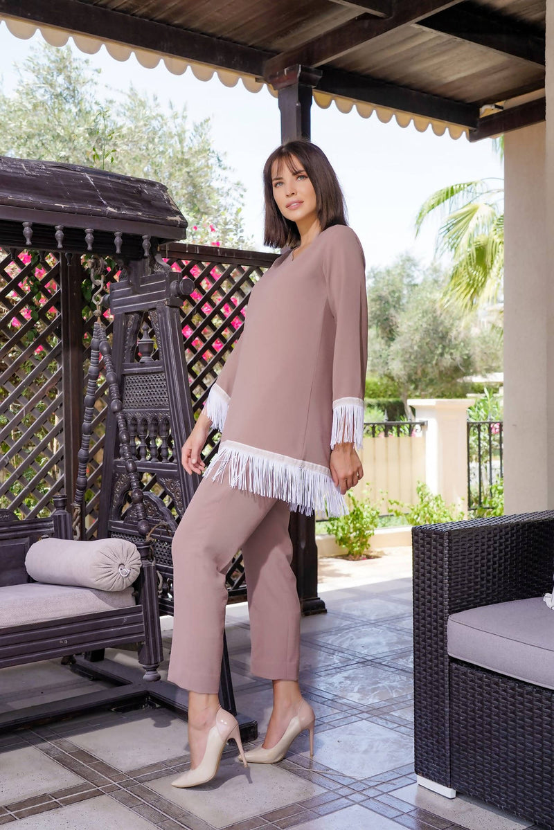 2021 Blush Pink Co-ord Set with Tassel - Chenille Boutique