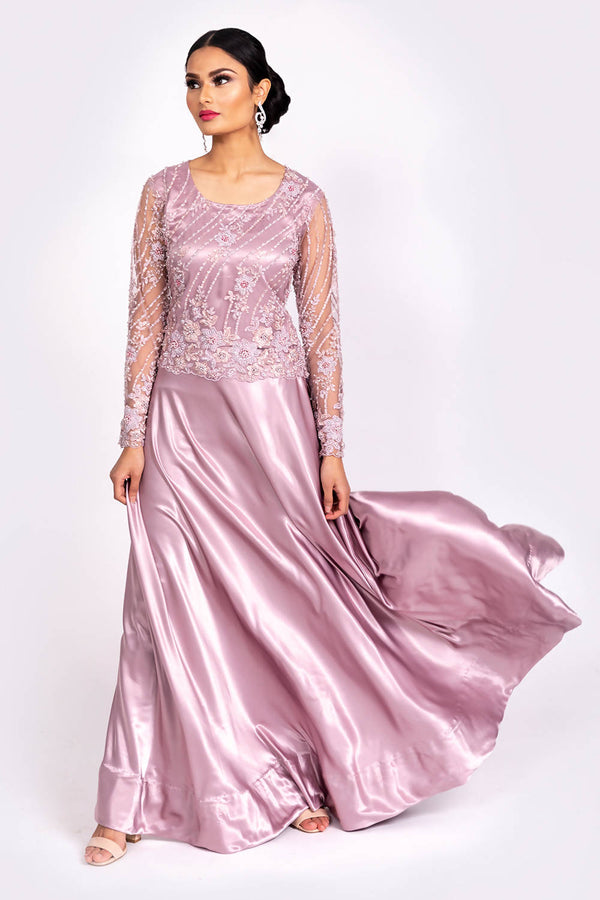 Lilac Embellished Occasion wear - hum hum London