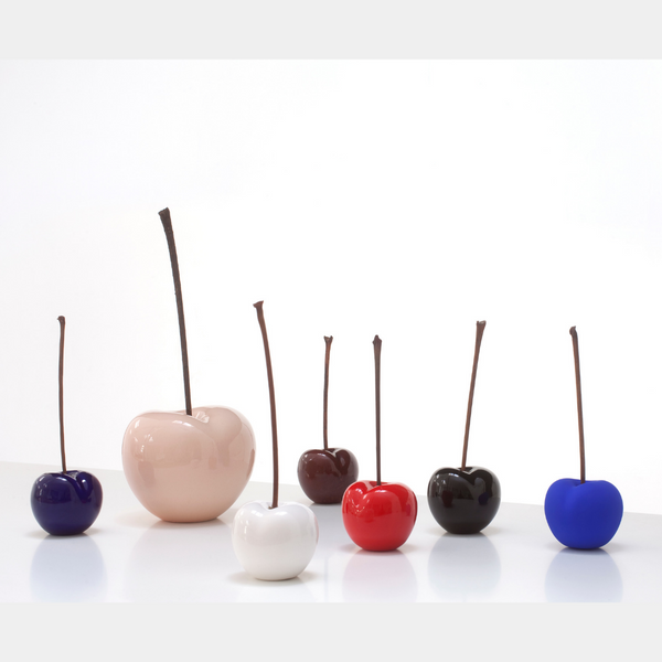 Porcelain Cherry Sculpture (Bordeaux) - Designer Studio