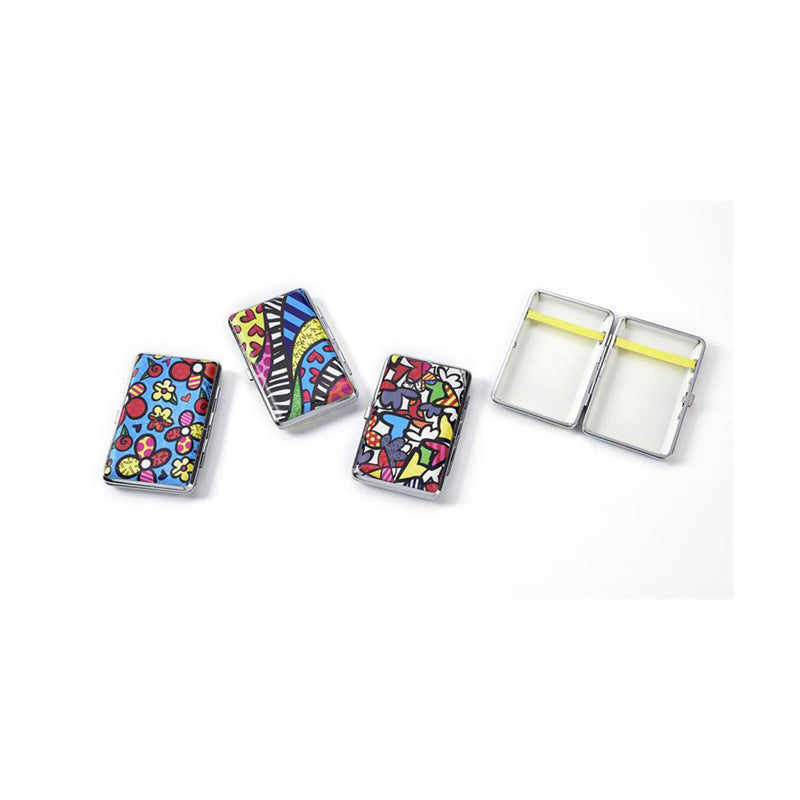 Romero Britto Wrapped Metal Card Case Asst. W/ Displayer - Designer Studio