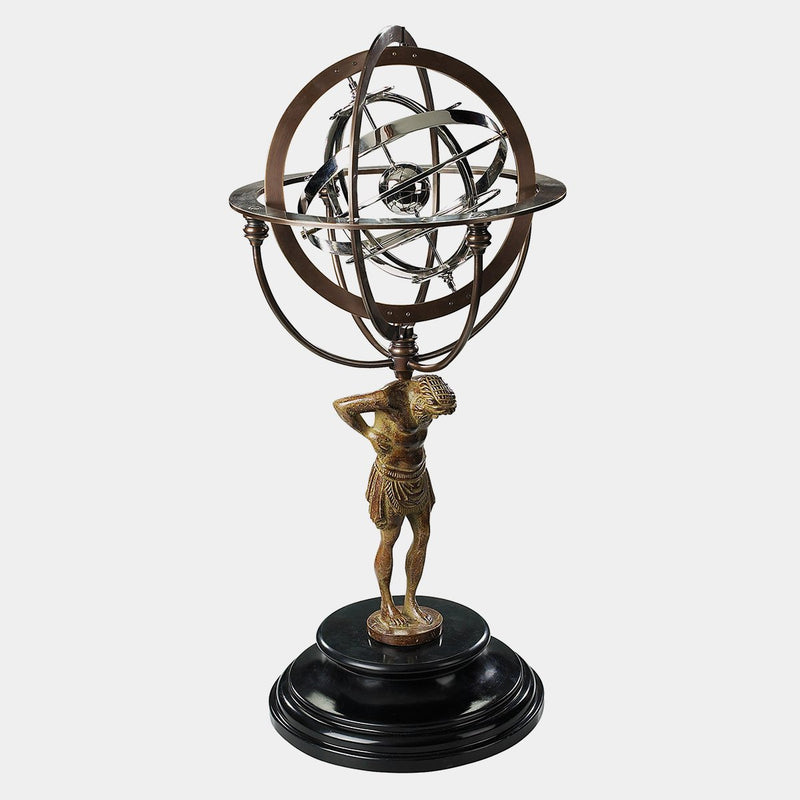 18Th C. Atlas Armillary - Designer Studio
