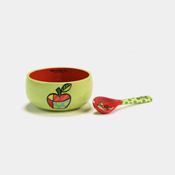 Britto Apple Bowl with Spoon - Designer Studio