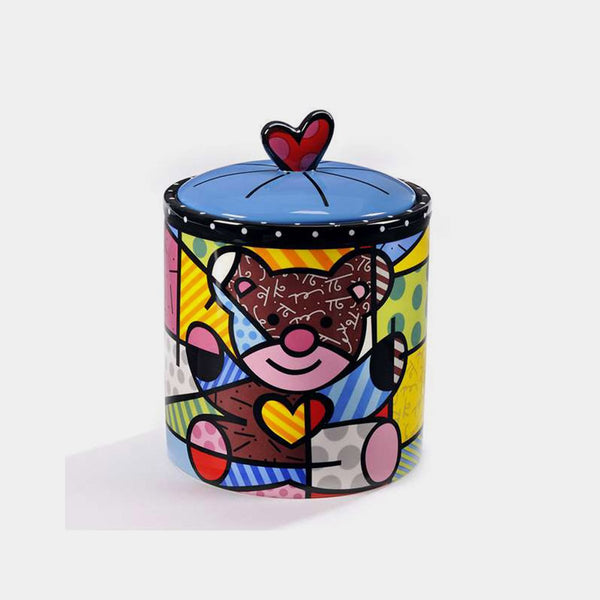 Britto Bear Cookie Jar - Designer Studio
