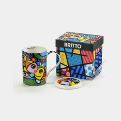 Britto Deeply in Love Mug with Lid - Designer Studio