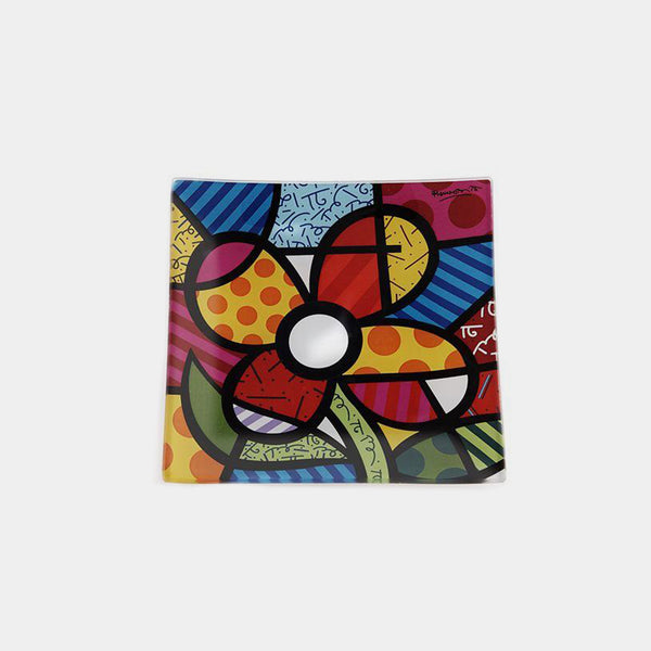 Britto Flower Glass Plate
