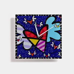 Flying Heart Square Wall Clock britto - Designer Studio