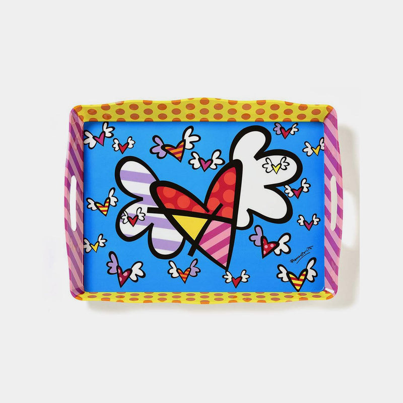 Britto Flying Heart Tray - Designer Studio