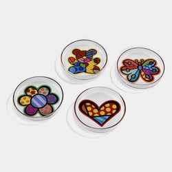 Britto Glass Tea Bag Holder (Single Piece) - Designer Studio