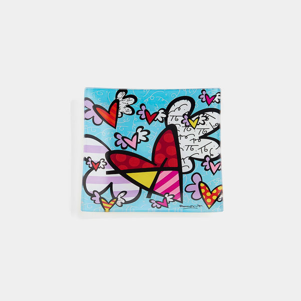 Britto Glass Plate Flying Heart - Designer Studio