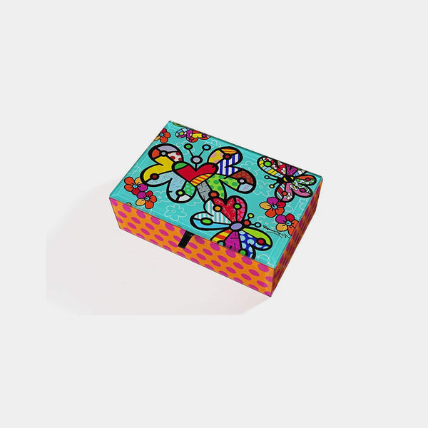 Britto Large Keepsake Box  Butterfly Design - Designer Studio
