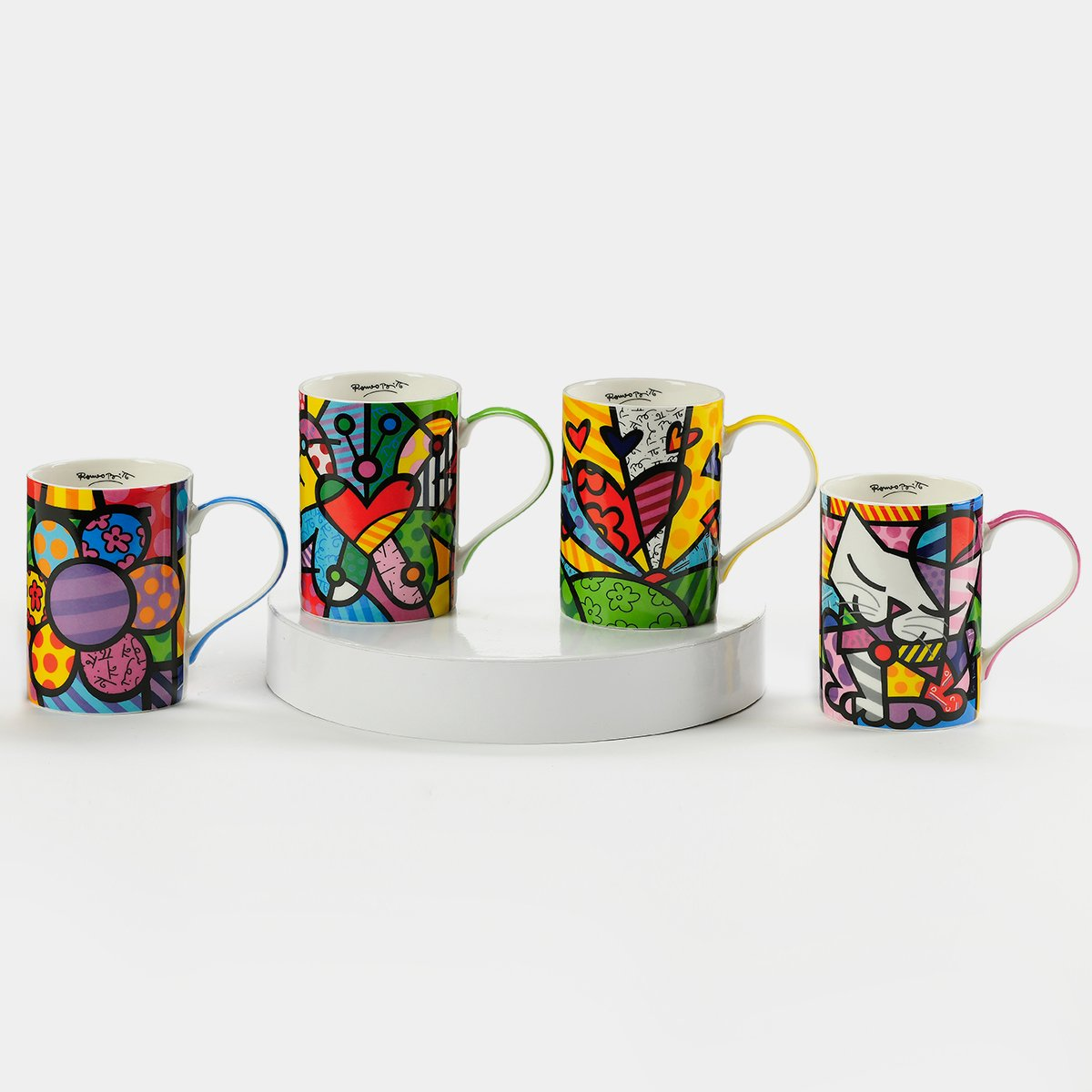 Britto Medium Mug  (Single Piece) - Designer Studio