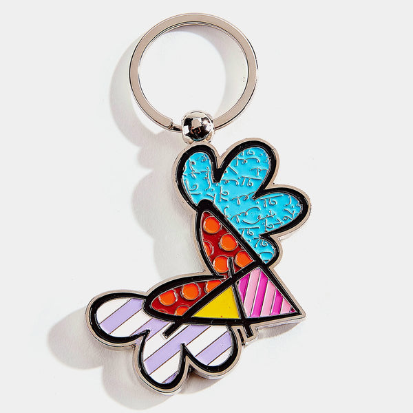 Britto Flying Heart Keychain - Designer Studio