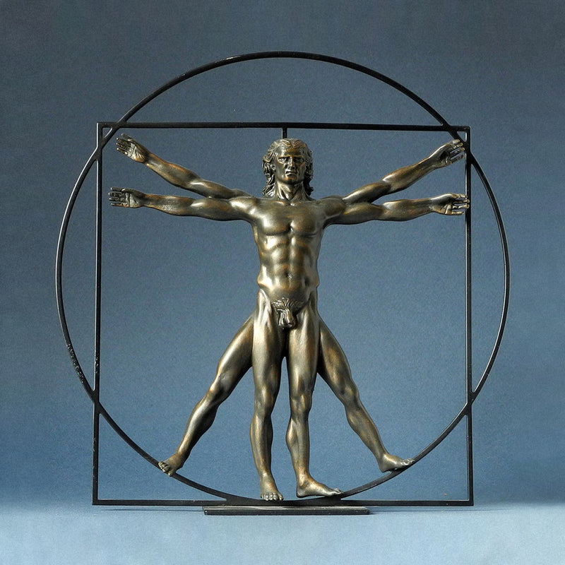 Da Vinci The Vitruvian Man (Bronze) - Designer Studio