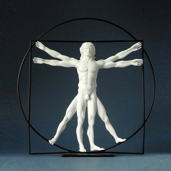 Da Vinci The Vitruvian Man (White) - Designer Studio