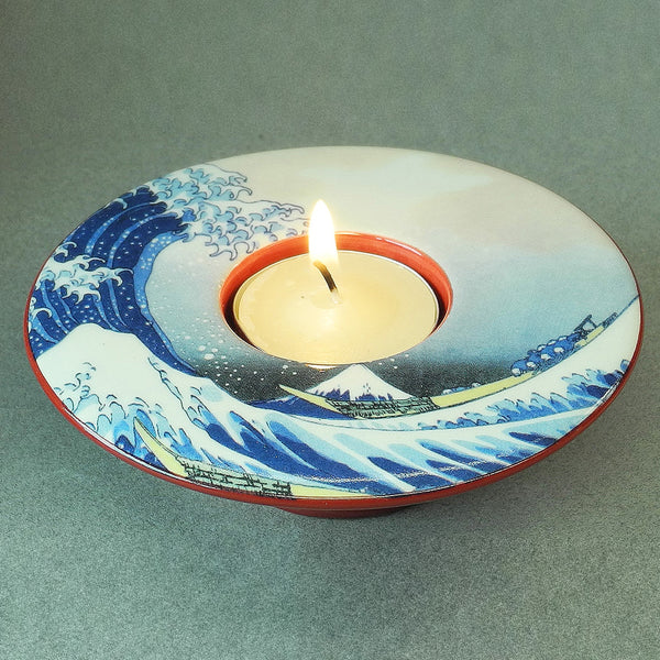 Hokusai Great Wave off Kanagawa Dish T-Light - Designer Studio