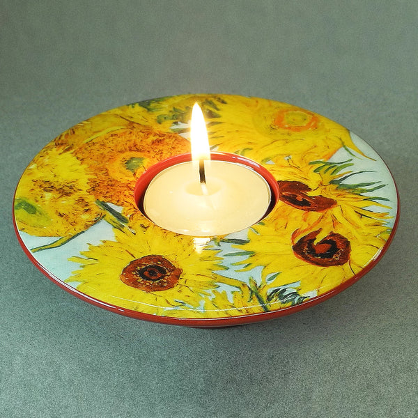 Van Gogh Sunflower Dish T-Light - Designer Studio