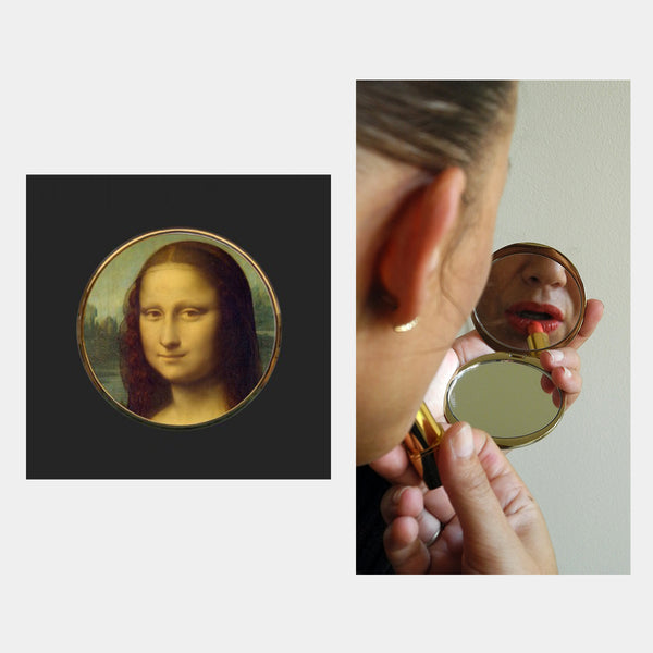 Da Vince Mona Lisa Pocket Mirror - Designer Studio