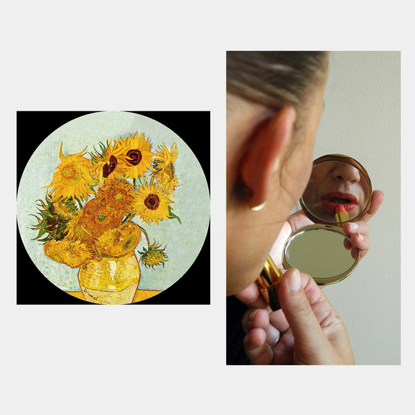 Van Gogh Sunflowers Pocket Mirror - Designer Studio