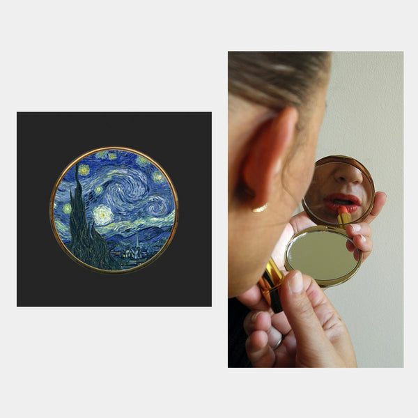 Van Gogh Starry Night Pocket Mirror