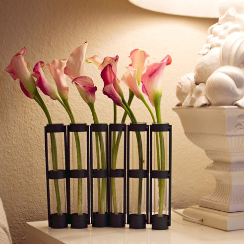 Metal And Glass Bud Vase - Designer Studio