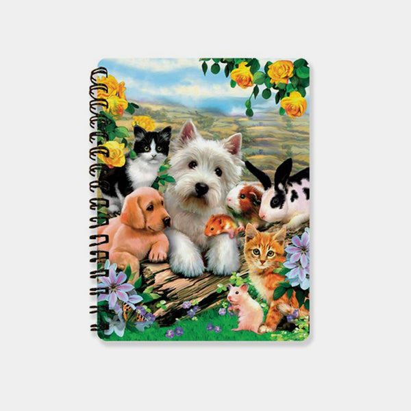 Summer Pals 3D Cover A6 Diary