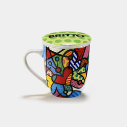 Britto Butterfly Mug With Infuser & Lid - Designer Studio