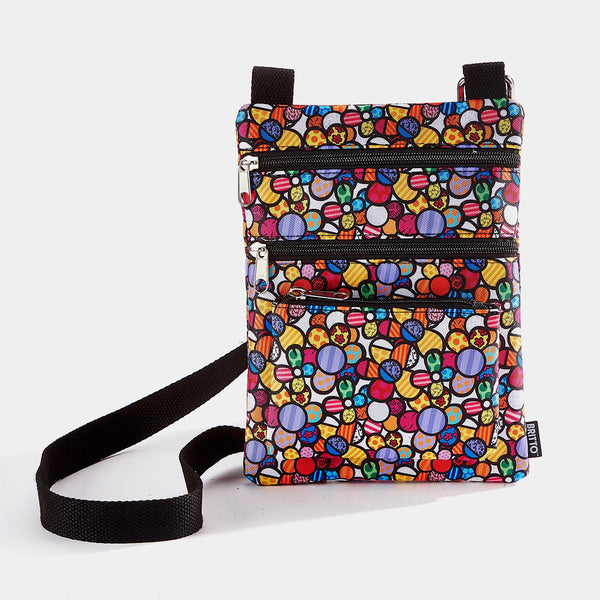 Cross Body Bag (Flowers) Britto - Designer Studio