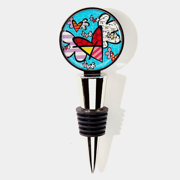 Britto Flying Heart Bottle Topper - Designer Studio