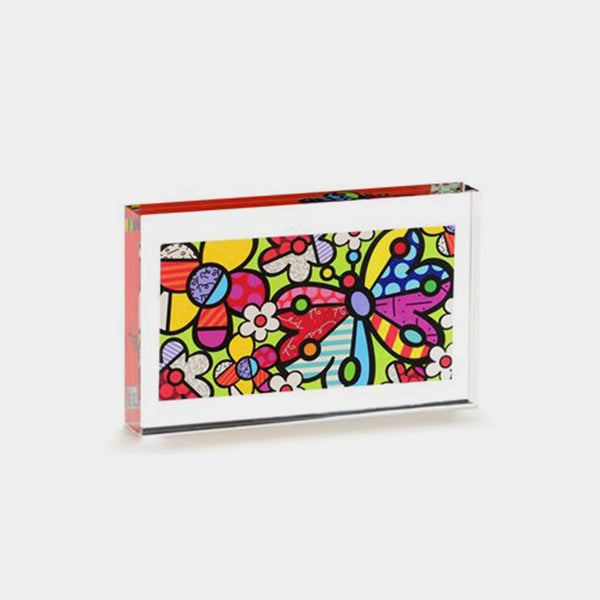Britto Butterfly Glass Block - Designer Studio