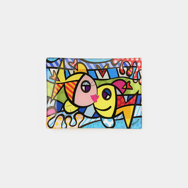 Britto Deeply In Love Glass Plate
