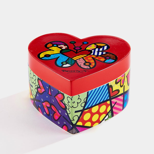 Britto Heart Shaped Keepsake Box - Designer Studio