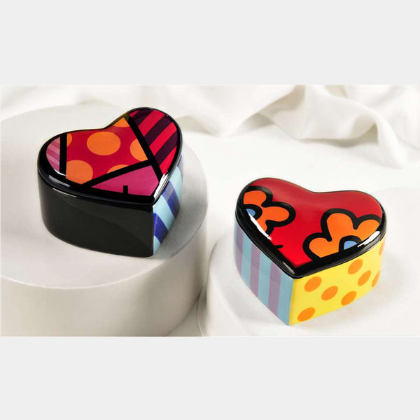Britto Heart Trinket Boxes (Single Piece) - Designer Studio