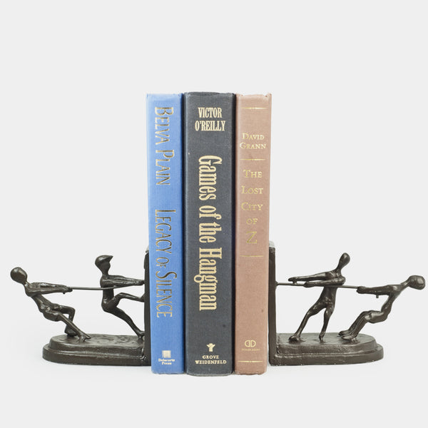 Tug of War Bookend Set