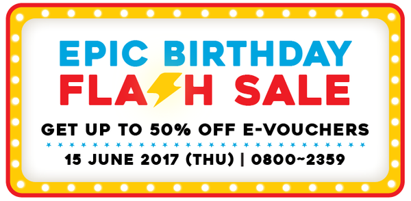 Epic Birthday Flash Sale