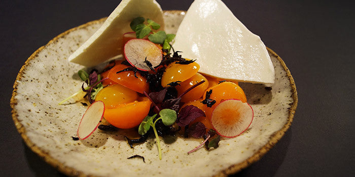 Tomato Salad with Pickled Hijiki and Meringue