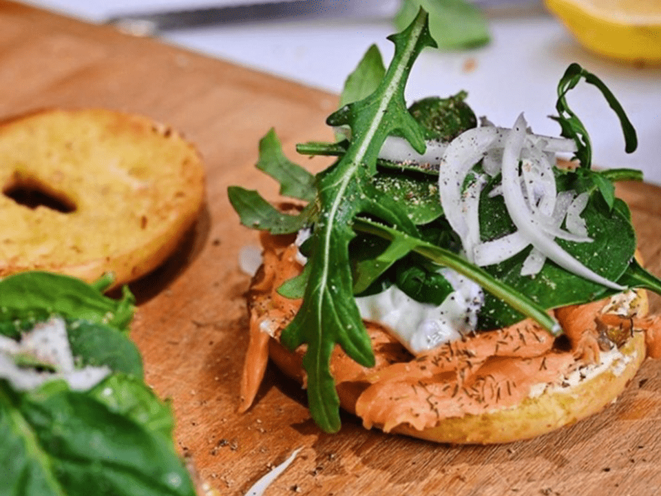 Smoked Salmon Bagel by Choice Cuts Goods + Coffee