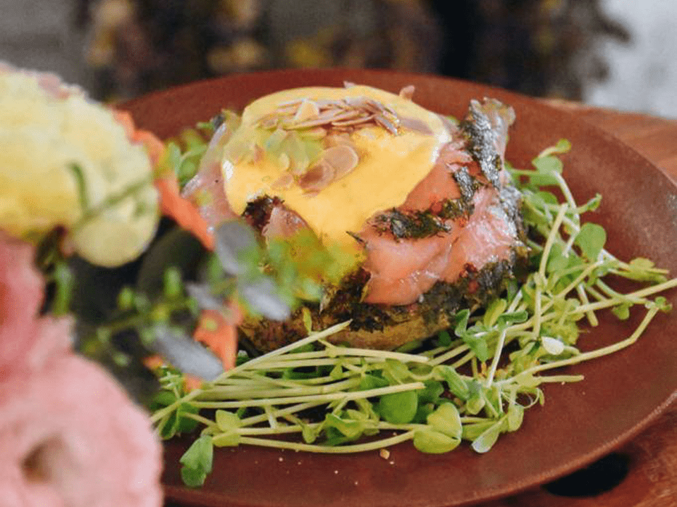 Bagel Eggs Benny by Wildseed Cafe at The Summerhouse