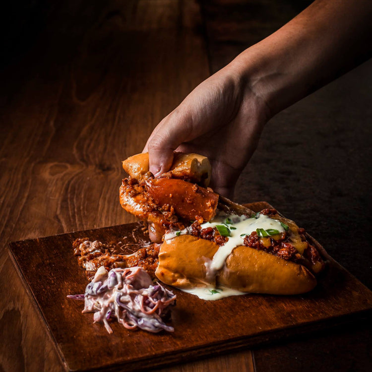 Chilli Cheese Dog ($17)