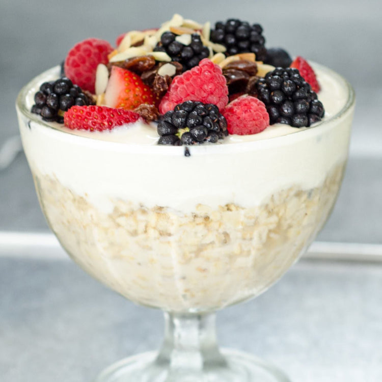 Bircher Muesli and Berries Compote