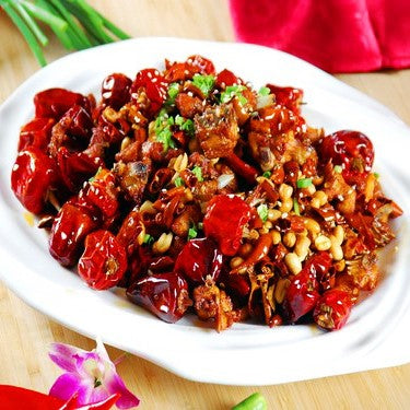 Fried Diced Chicken with Dried Chilli