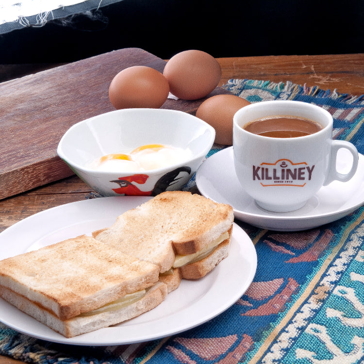 Kaya Toast, Soft-Boiled Eggs and Coffee