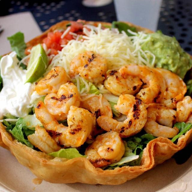 Tostada Shrimp Salad ($15.40)