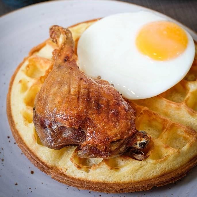 Duck Confit & Waffle ($20)