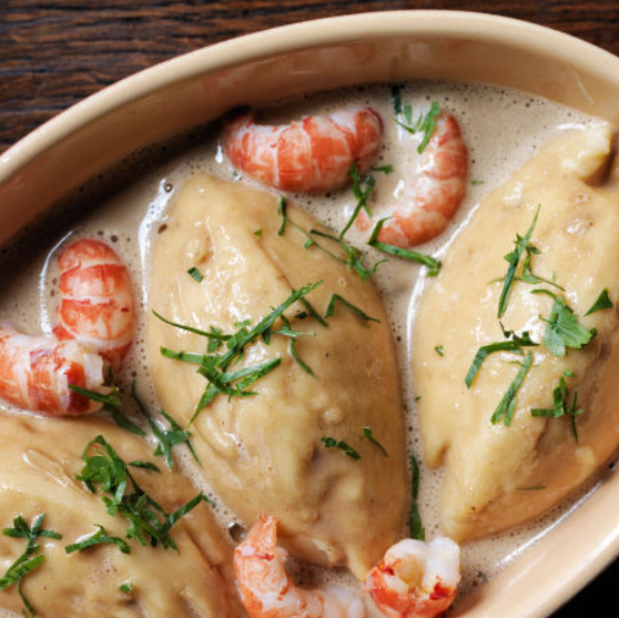 Grandpa Henri's Fish Quenelles with Crayfish Sauce ($36)