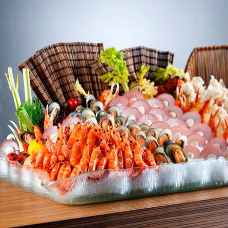 Seafood on Ice and Homemade Dipping Sauces