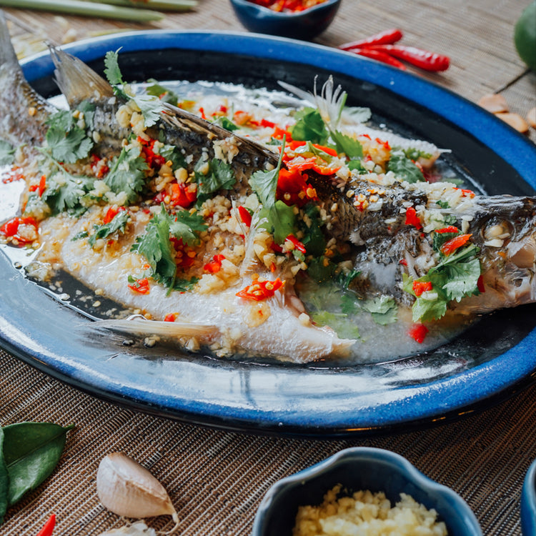 Spicy Steamed Sea Bass ($32)