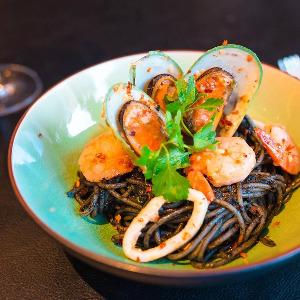 Seafood Squid Ink Pasta ($25)