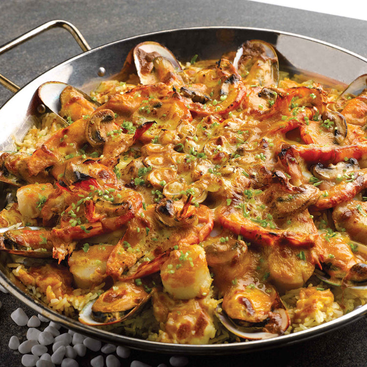 Assorted Seafood Baked Rice with Chef's Recipe Sauce